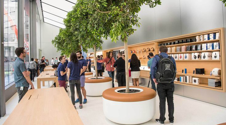 Inside the new apple retail store design rechi for Retail store layout software