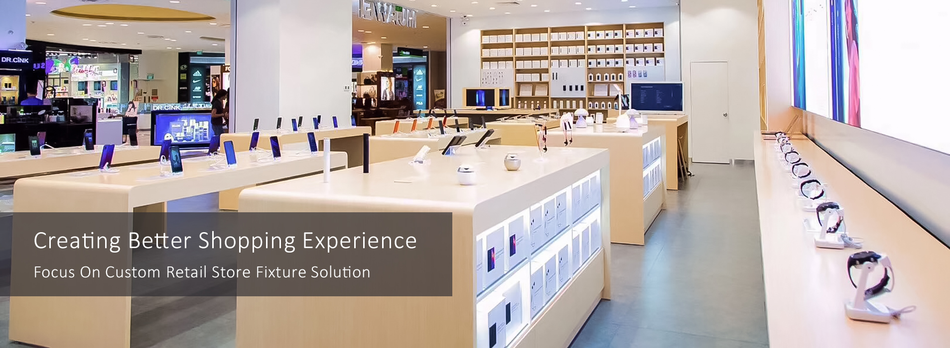 RECHI Focus On Custom Retail Store Fixture Solution for Retail Electronic Store