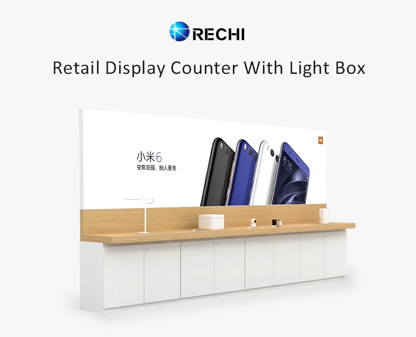 mobile phone display counter for retail electronic store