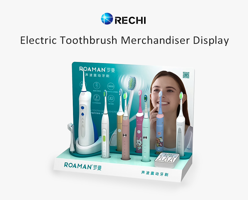 rechi custom retail pop display stand for electric toothbrush