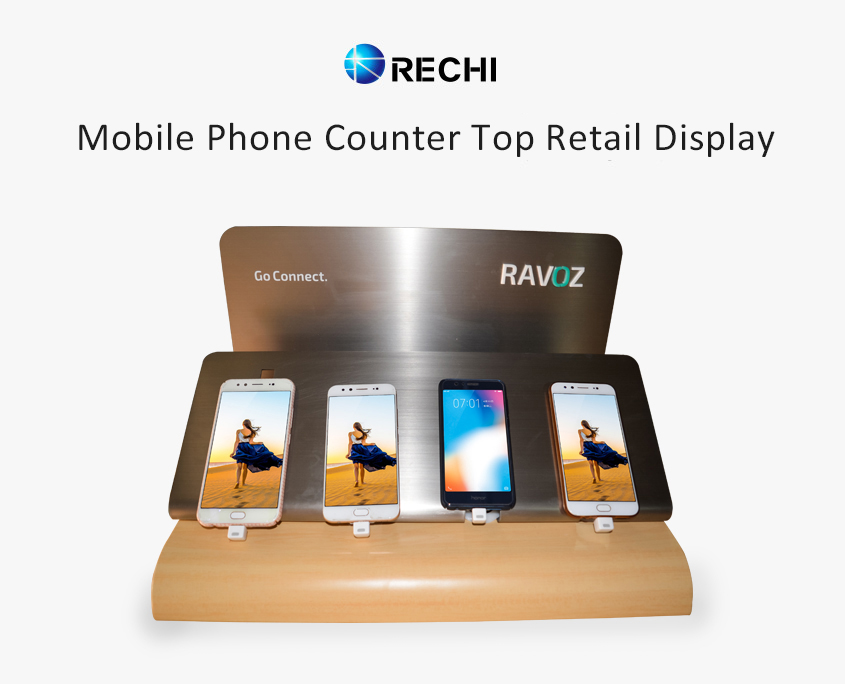 rechi custom retail pop display stand for mobile phone