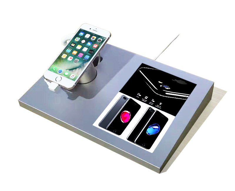 mobile phone security system with sign holder for iphone