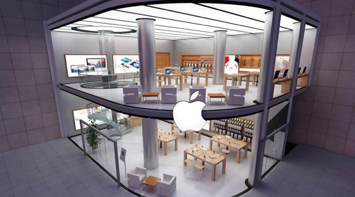 retail merchandising security solution for apple authorised reseller store