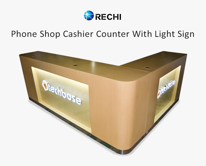 cashier checkout counter for retail mobile phone shop