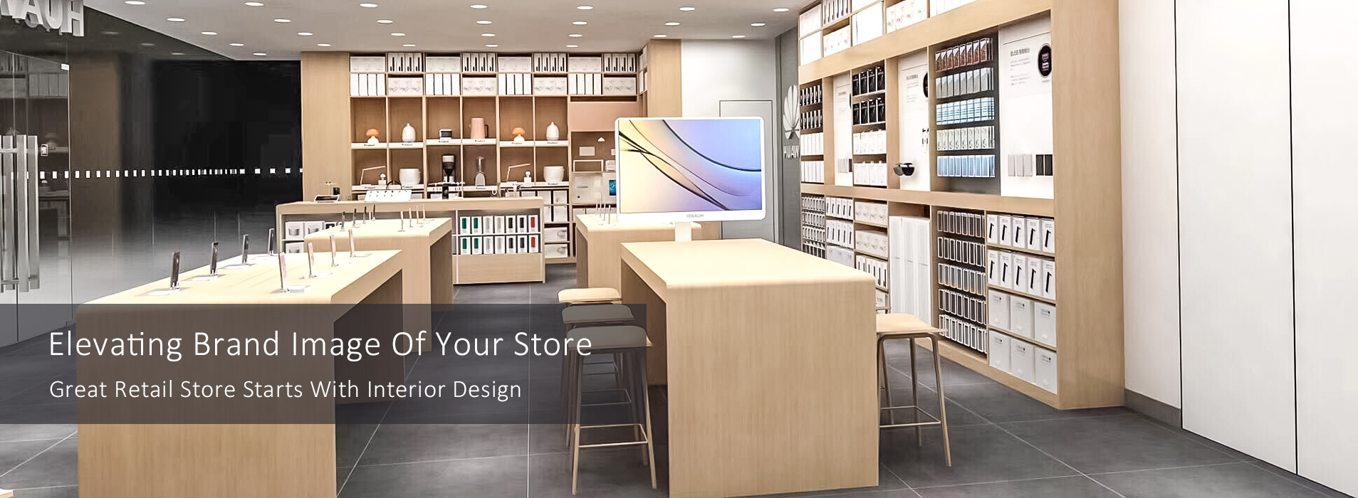 Great Retail Store Starts With Interior Design for Retail Electronic Store