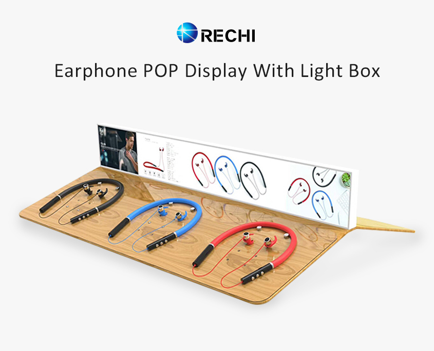 rechi custom retail pop display stand for earphone