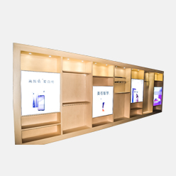 cell phone accessory display showcase with lighting box