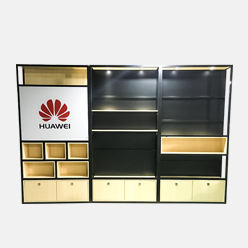 cell phone accessory display shelf with lighting box