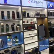 rechi lifestyle products display showcase for kunzhen