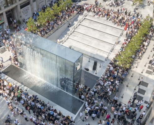 apple piazza liberty by foster partners