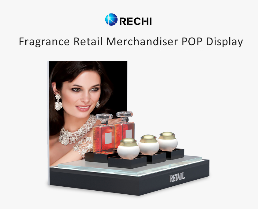 rechi countertop acrylic fragrance pop display stand