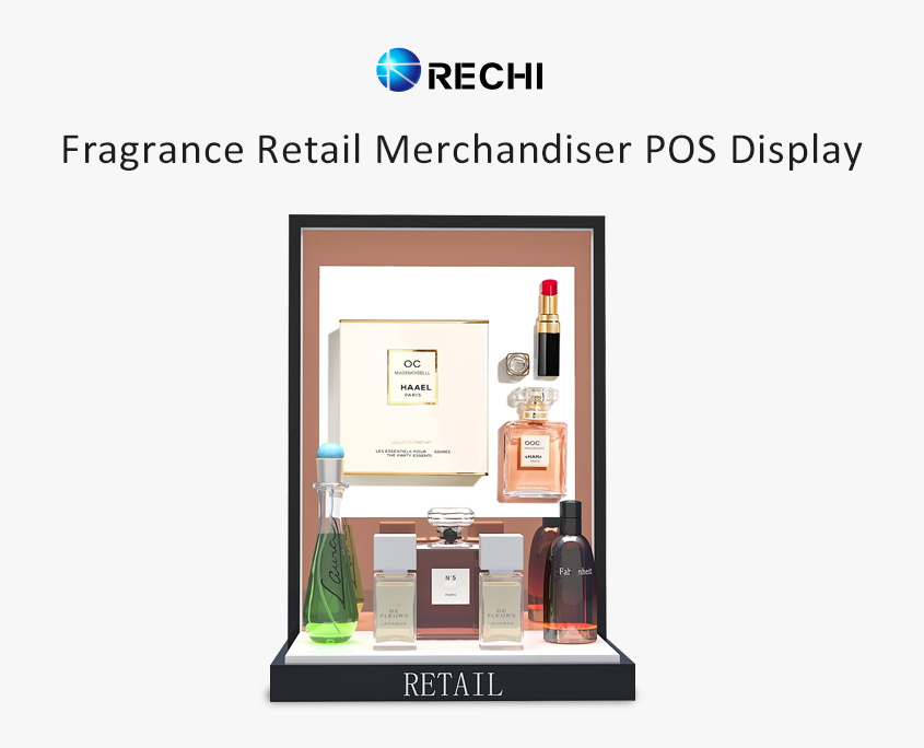 rechi countertop acrylic perfume pop display stand