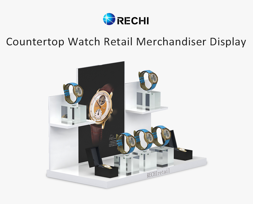 rechi countertop acrylic watch pos display stand