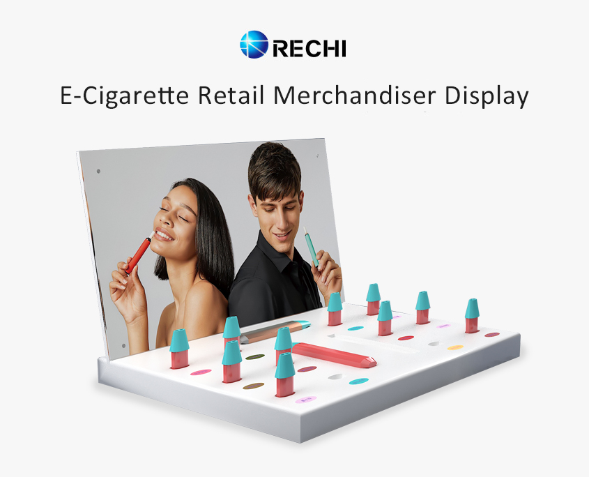 rechi countertop acrylic electric cigarette pop display stand