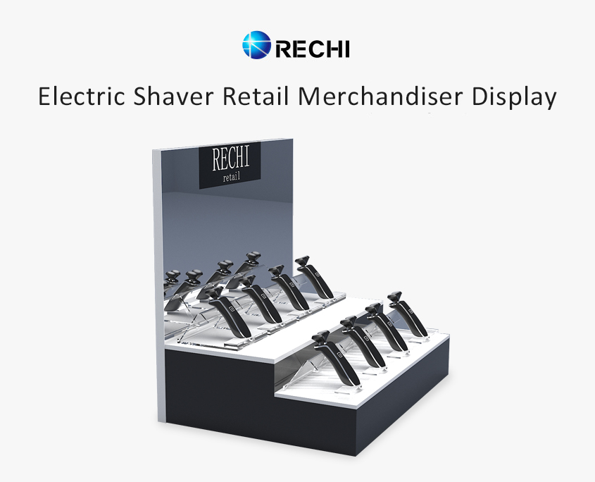 rechi countertop acrylic electric razor pop display stand
