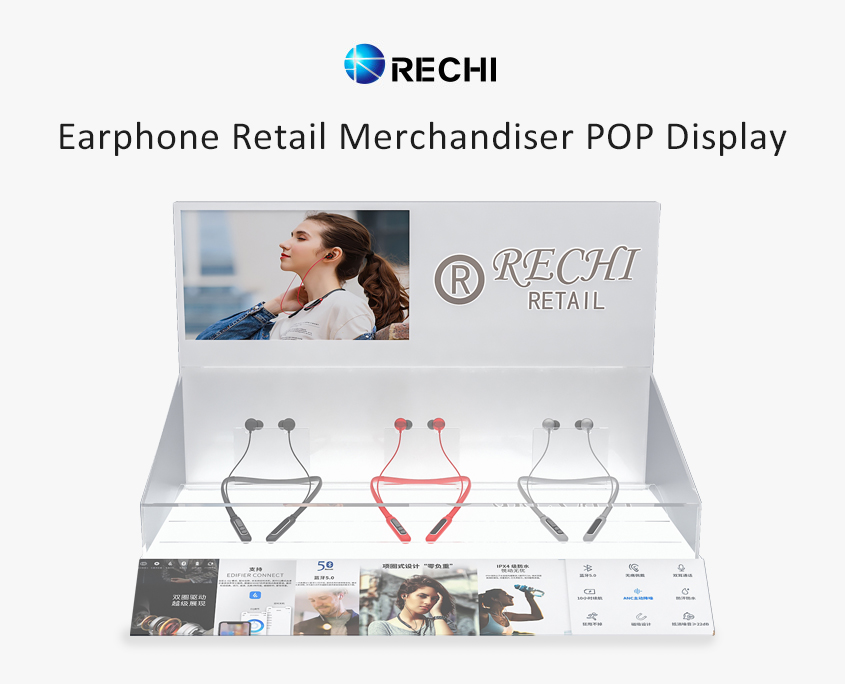 rechi countertop acrylic earphone pop display stand