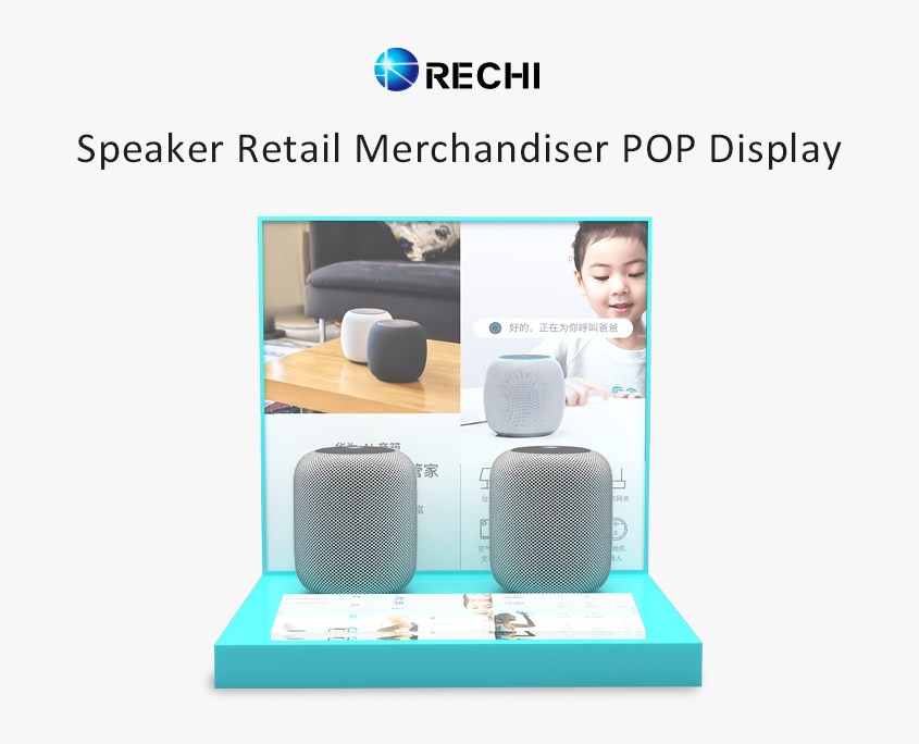 rechi countertop acrylic speaker pop display stand
