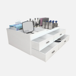 rechi countertop acrylic cosmetics storage box