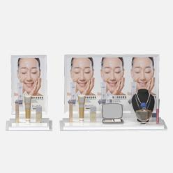 rechi countertop acrylic makeup pop display stand
