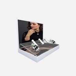 rechi countertop acrylic skincare pop display stand