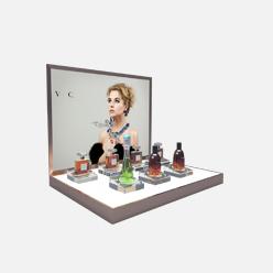rechi countertop acrylic fragrance pop display stand