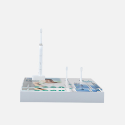 rechi countertop acrylic e-toothbrush pos display stand