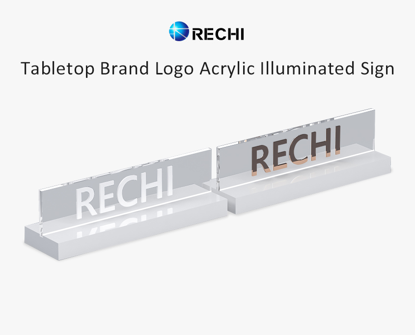 rechi countertop brand logo lighting sign