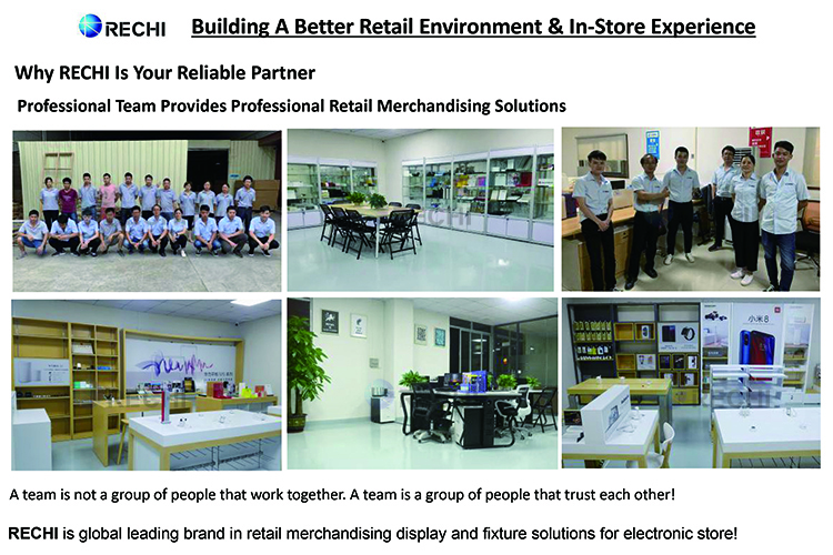 rechi professional team in retail mobile phone store displays and fixtures