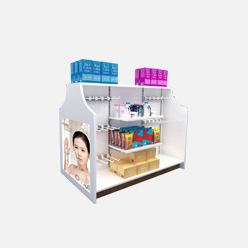 rechi retail display counter table with shelf