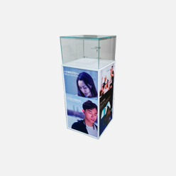 rechi retail glass display showcase for mobile phone shop