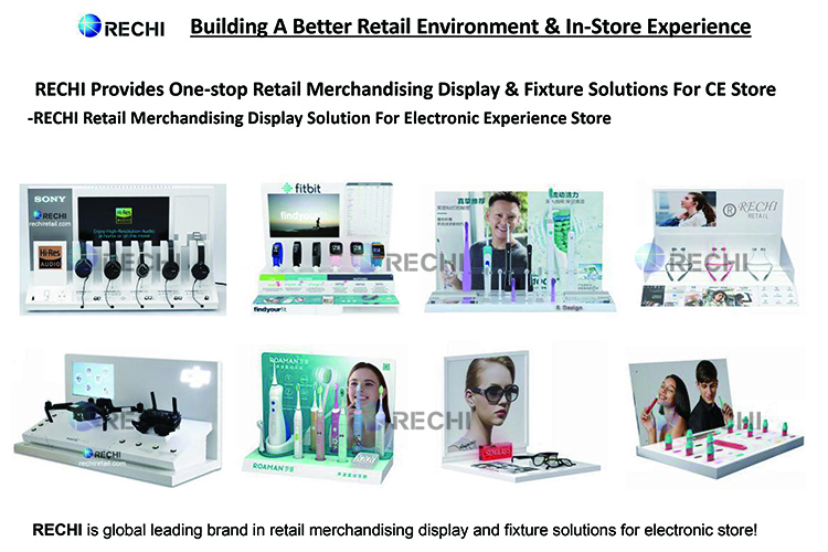 rechi retail merchandising pop display stand for electronics