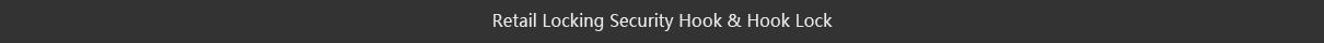 retail locking security hook and hook lock