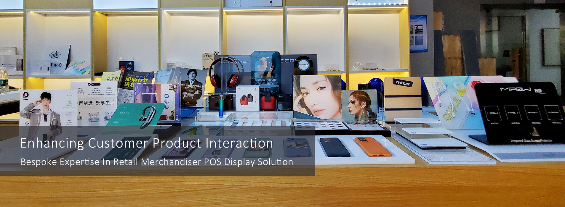 RECHI Bespoke Expertise In Retail POP Display Solution For Electronic Store
